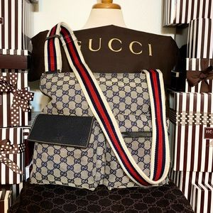 GUCCI⭐️❤️⭐️MESSENGER! RED WHITE AND BLUE⭐️UNICORN!
